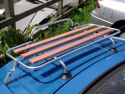 Boot / luggage rack aluminium and wood, with fitting kit